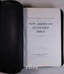 McCabe 1977 NASB New American Standard Bible Single Column Black Bison Leather