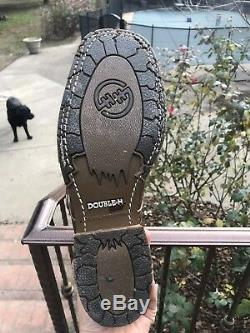 Men's Double H Boots Bison Size 9D