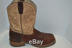 Mens Double H 11 2E Bison Square Steel Toe ICE Roper Work WESTERN Boot DH5305
