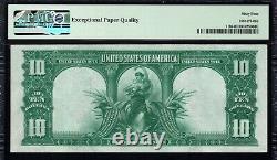 Monster NEAR GEM 1901 $10 LEGAL TENDER BISON NOTE PMG 64 EPQ Fr 119 Bargain