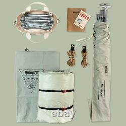NEW unopened Springbar Canvas Tent travelers 10 X 10 bison color USA Made