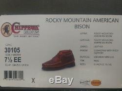 NIB Mens 7.5 EE Chippewa American Bison Rugged Casual Shoes Chukka Boots 30103