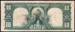 NICE Bold VF 1901 $10 BISON Legal Tender US Note! FREE SHIPPING! E41303117