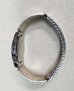 Navajo Hopi Bison Buffalo Signed 925 Sterling Silver Band Tips 1911 Indian Watch