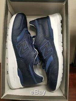 New Balance 997 Leather Bison Capsule Blue/white Made in USA(M997BIS)Sz 10 New
