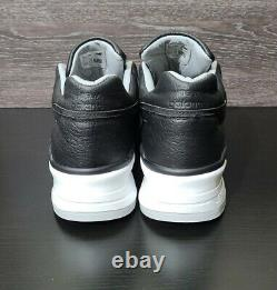 New Balance 997 Made in USA NB Bison Leather Black White Size 11.5 M997BSO