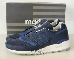 New Balance M997BIS Mens 11 (uk 10.5) Bison Leather DS Made in USA Blue 997