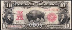 Nice Scarce 1901 $10 BISON Legal Tender US Note! FREE SHIPPING! E21147513