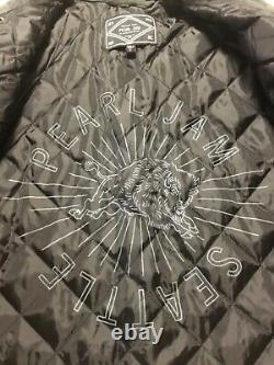Pearl Jam Seattle Lifetime Small Quilted Flannel Jacket Bison