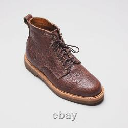 Rancourt & Co. Boots Size 10 Brown Pebbled Bison Leather