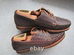 Rancourt Shoes Mens 12 D Bison Four Eye Ranger Mocs Crepe Soles Excellent