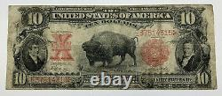 Rare Series Of 1901 $10 Bison Large United States Note Red Seal