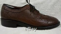 Rare Vintage NUNN BUSH Mens Shoes Ankle Fashioned Genuine Water Bison leather