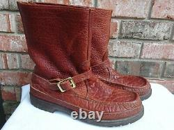 Russell Moccasin Moccasin Double Moccasin Bottom Zephyr Boots 10.5 N Bison EUC