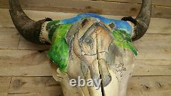 Rustic Western Style Bull Buffalo Skull(horse head 2) PICK #16 /