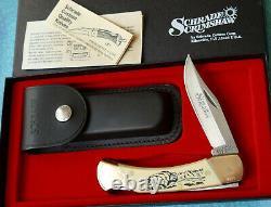 SCHRADE USA Buffalo Scrimshaw Knife 507SC NEW 1996 Bison Lockback SC507 and Box