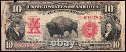 Scarce 1901 $10 BISON Legal Tender US Note! FREE SHIPPING! E39815326