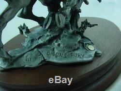 Scarce 1982 Michael Boyette Chilmark Fine Pewter Sculpture Bison's Fury Wichita