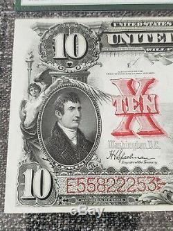 Series 1901 $10 Legal Tender Bison Note PMG 40 EPQ XF FR122 Speelman/White