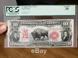 Series 1901 $10 Legal Tender Bison PCGS VF 30 Very Fine FR122M Mule Note