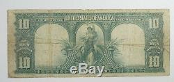 Series 1901 Large Size BISON $10 Legal Tender US Note VERY GOOD Fr#122