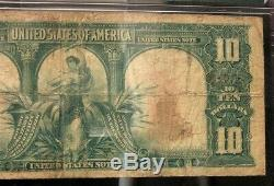 Series of 1901 $10 Bison Note PMG F12 NH