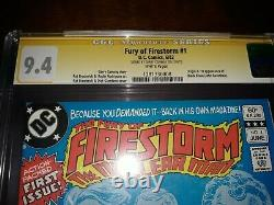 Signed Fury of Firestorm #1 CGC SS 9.4 Gerry Conway Origin, 1st App Black Bison