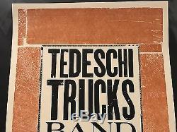 TEDESCHI TRUCKS BAND Ryman Nashville TN Hatch Show Print Poster 2015 Bison