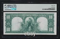 US 1901 $10 Bison Legal Tender FR 121 PMG 64 V Ch CU (272)