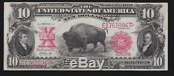 US 1901 $10 Bison Legal Tender FR 121m VF-XF (947)
