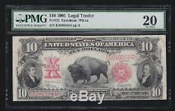 US 1901 $10 Bison Legal Tender FR 122 PMG 20 VF (644)