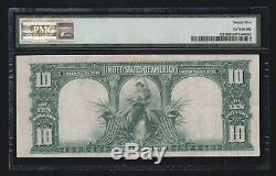 US 1901 $10 Bison Legal Tender STAR NOTE FR 122 PMG 25 VF (960)