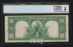 US 1901 $10 Bison Legal Tender STAR Note FR 122 PCGS 30 VF (234)