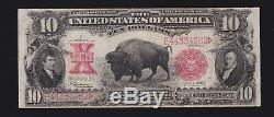 US 1901 $10 Legal Tender Bison FR 122 VF (-262)