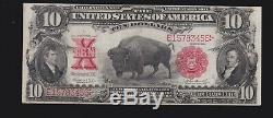 US 1907 $10 Bison Legal Tender FR 120 VF-XF (-456)