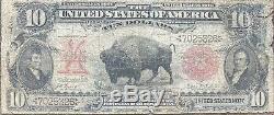 USA 10 Dollar 1901 $10 United States Note Bison Lewis Clark RAR Banknote #24314