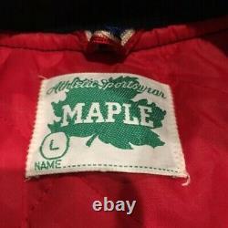 VTG Buffalo Bisons Satin Minor League Baseball Jacket 1980s Sz Large EUC