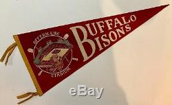 Vintage BUFFALO BISONS Baseball Offermann Stadium Pennant