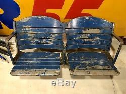 Vintage Buffalo Memorial Auditorium Blue Seats Pair Aud Sabres Braves Bisons