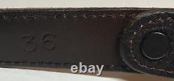 Vintage Chacon 1999 Zia 1 Sterling Buckle/ Chocolate Bison Leather Belt