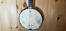 Vintage George Washburn 5 String Open Back Banjo 19 Fret 11 Pot Bison Inlay