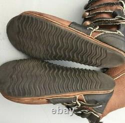 Vtg Bald Mountain Renaissance Moccasins Bison Leather Copper Coin Womens 10