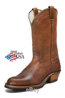 White's Boots Rancher Genuine Brown Bison Leather Hathorn Line Cowboy Work 329