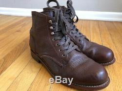 Wolverine 1000 Mile Centennial Boots Bison Leather Brown Size 7.5D MSRP $400