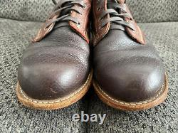 Wolverine 1000 Mile Centennial Boots US 9.5D Two Tone Bison Leather Brown Red